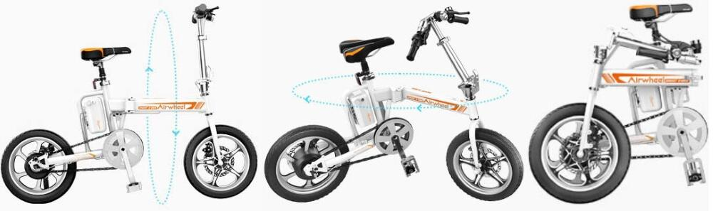 bici elettrica pieghevole airwheel r5