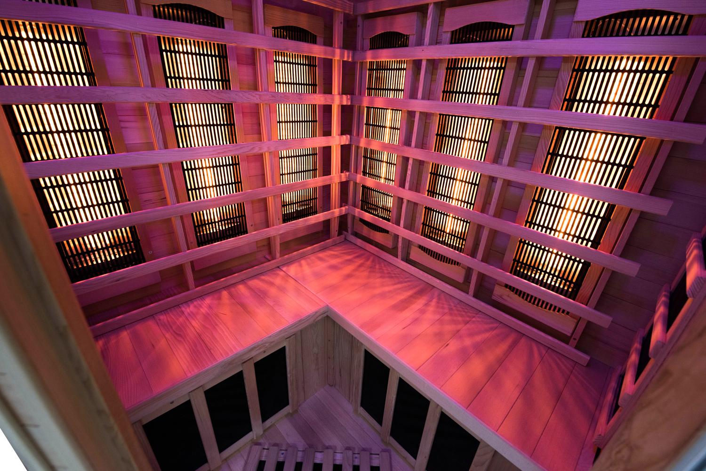 sauna infrarossi ad angolo