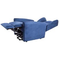 poltrona elevabile per disabili blu