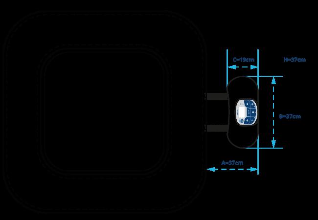 motore della vasca idromassaggio quadrata