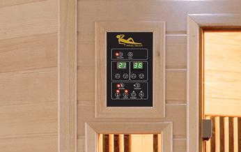 pannello di controllo con termostato per sauna