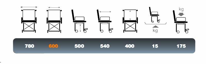 misure della sedia comoda bariatrica