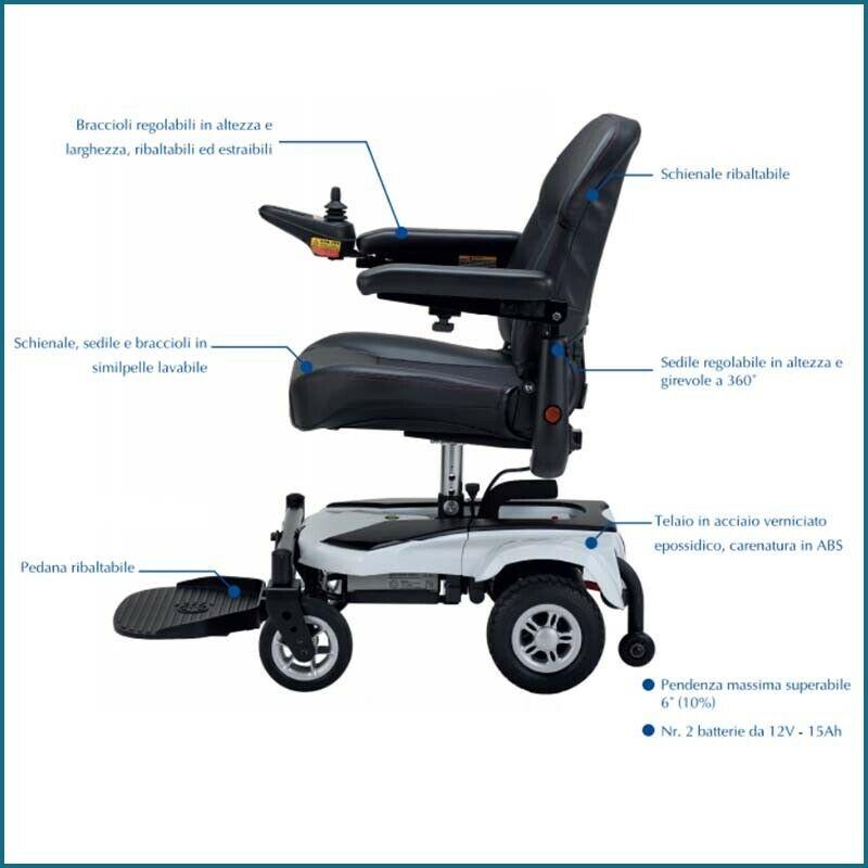 carrozzina elettronica per disabili Kometa Free