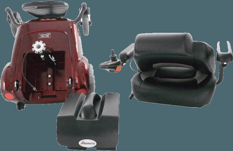 carrozzina elettronica smontabile per disabili