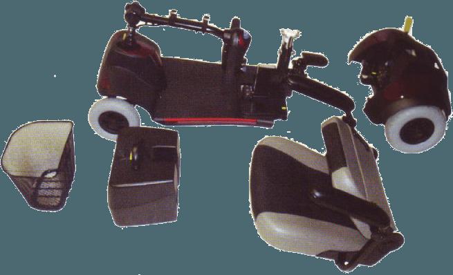 Scooter per disabili Mediland kometa liberty 2 smontato