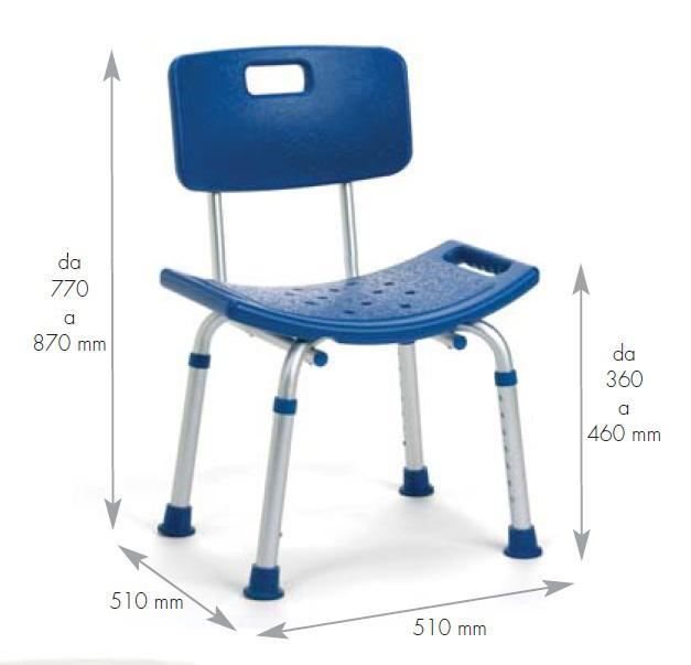 sedia da vasca per disabili