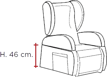altezza della seduta da terra della poltrona relax