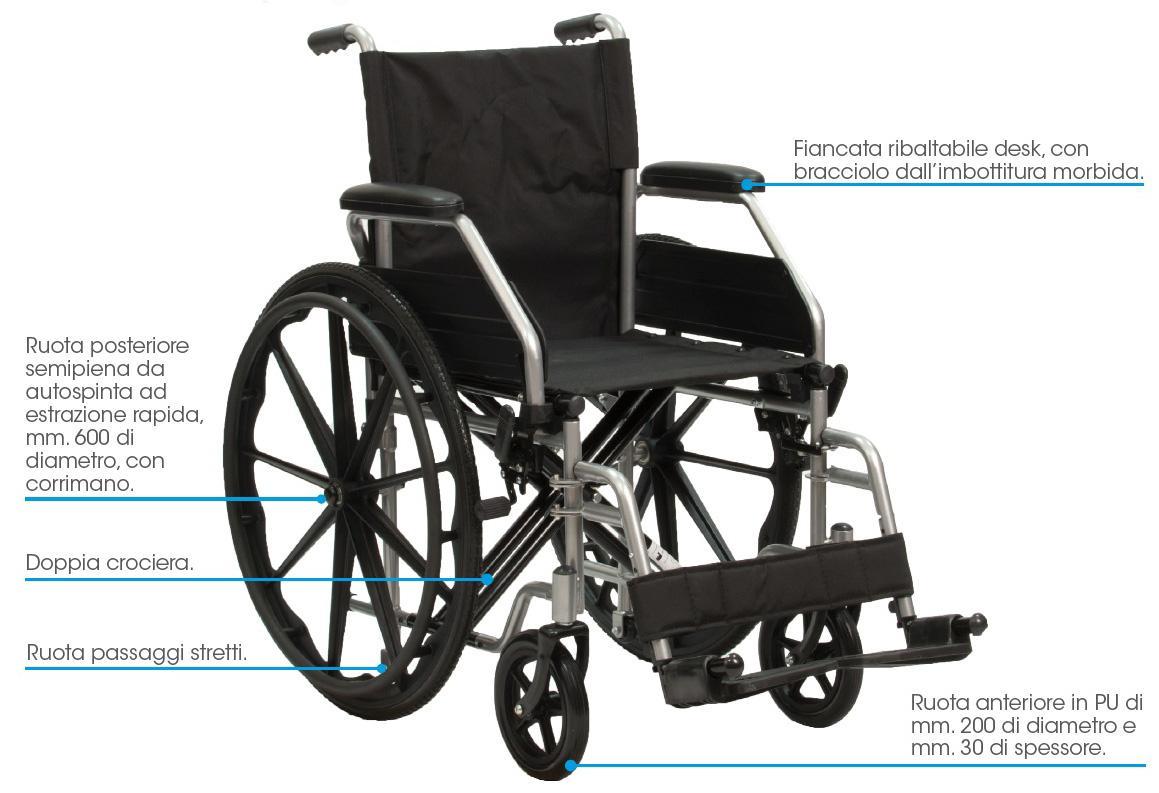 carrozzina con ruote estraibili PBP