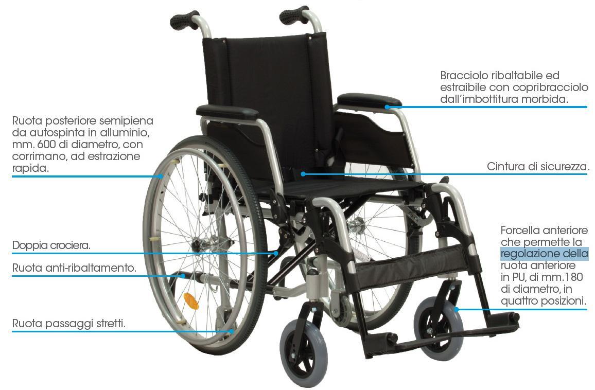 sedia a rotelle leggera