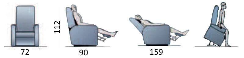 misure della poltrona ortopedica elettrica elisabetta