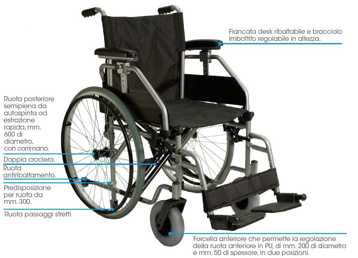 sedia a rotelle per disabli PSDB