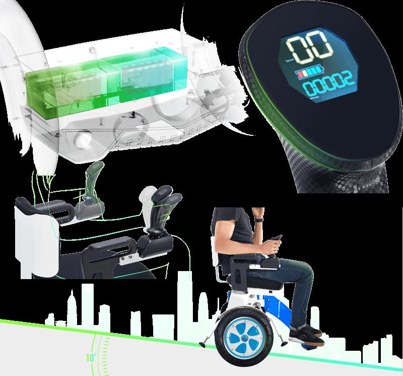 carrozzina elettrica per disabili autobilanciata