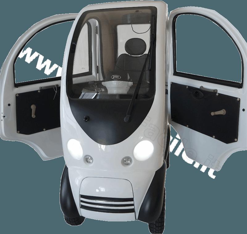 Scooter elettrico cabinato per anziani e disabili Shuttle