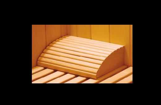 Poggiatesta in legno per sauna tradizionale o a infrarossi