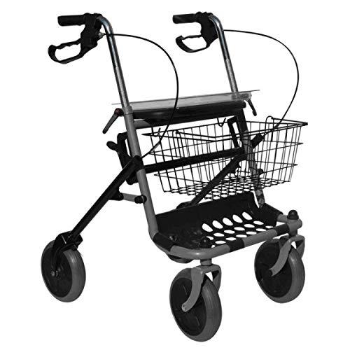 carrello per disabili pieghevole in acciaio con 4 ruote