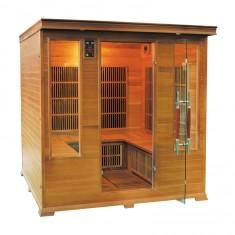 Sauna infrarossi 4/5 posti Aira CLUB 185 x 185 CM in Cedro Rosso Canadese, SN-LUXE-4S, 3.999 €