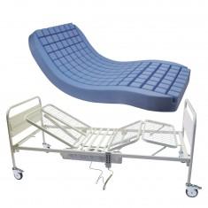 Letto ospedaliero motorizzato a 3 snodi con materasso antidecubito , l9 + poly1, 890 €