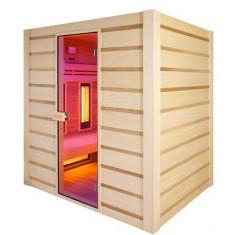Sauna Holl's Hybrid Combi combinata infrarossi al quarzo e vapore finlandese 180 x 140 x 190 CM, HL-HC04 , 4.450 €