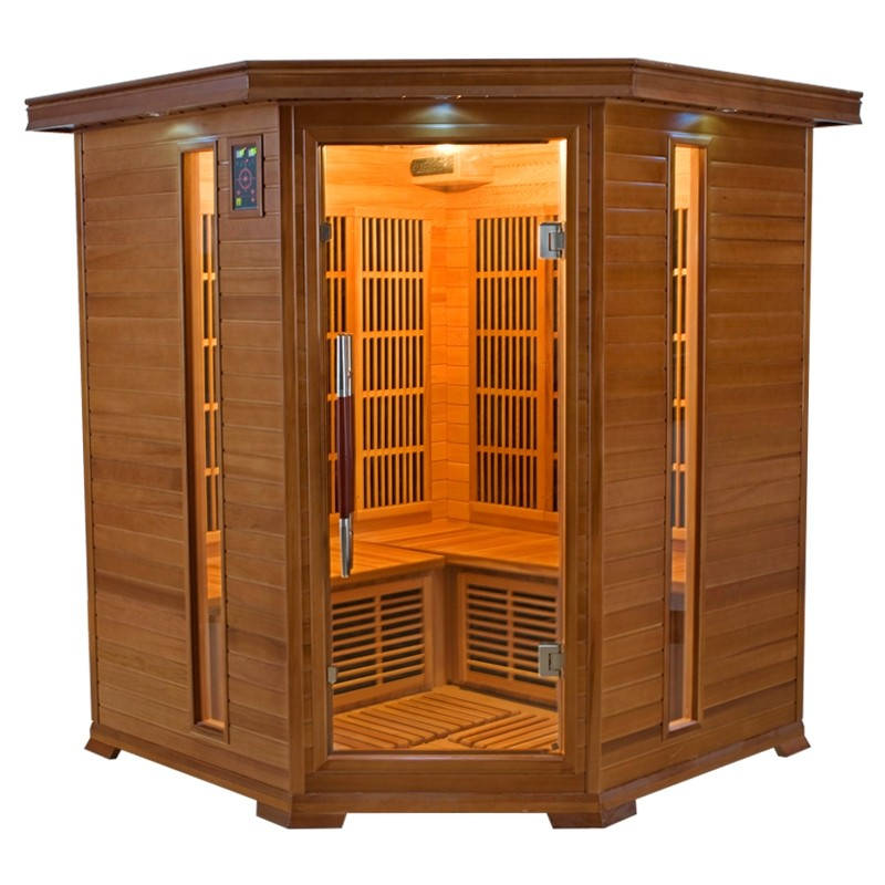 sauna infrarossi angolare 3 4 posti aira in cedro vita. Black Bedroom Furniture Sets. Home Design Ideas