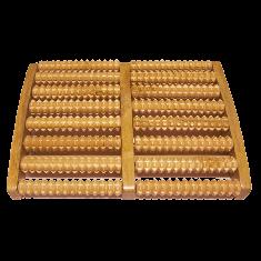 Massaggia-piedi in legno per sauna tradizionale od infrarossi