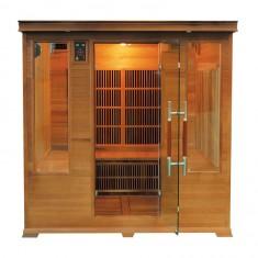 Sauna infrarossi 4/5 posti Aira CLUB 185 x 185 CM in Cedro Rosso Canadese