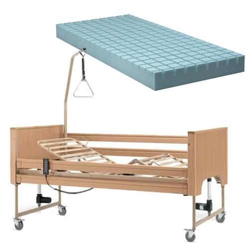 Letto da degenza elettrico con struttura in legno Siesta & Materasso antidecubito, le1 + ao7 14, 1.459 €