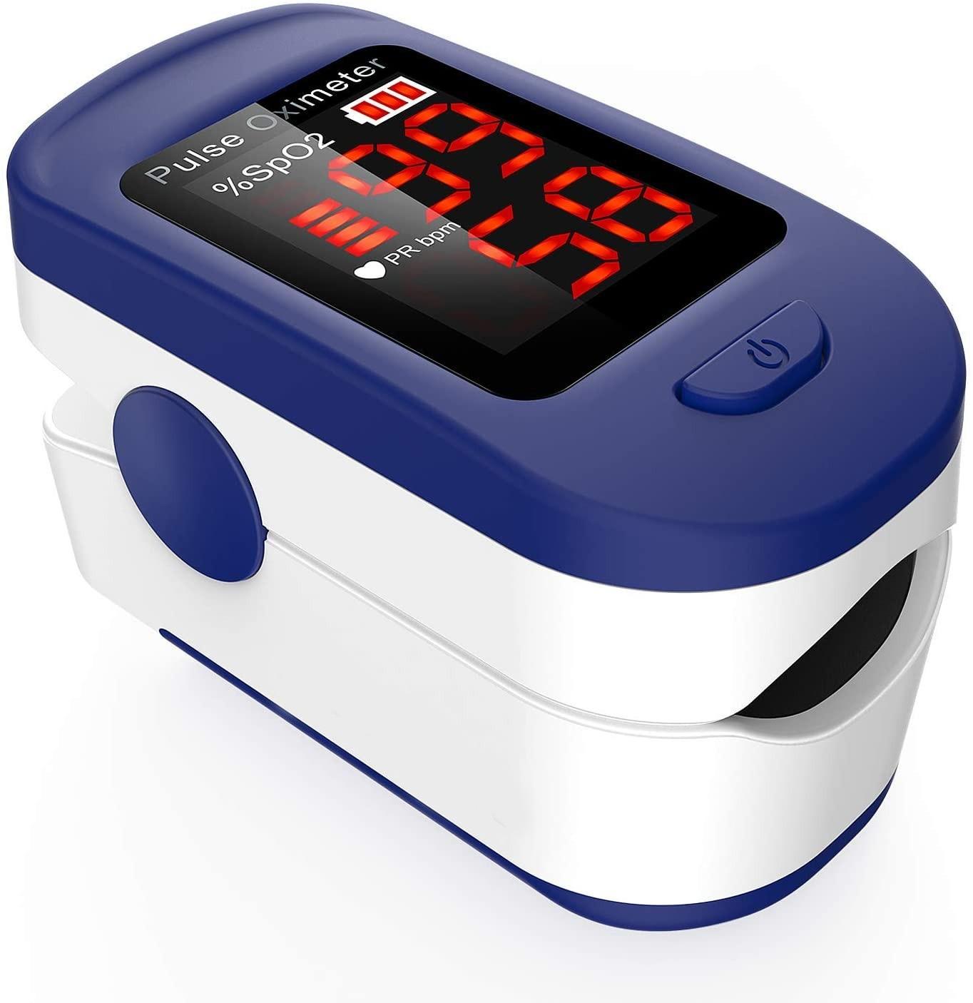 Saturimetro Pulsossimetro da Dito Professionale con Display LCD per misurare i Livelli di ossigeno SpO2 e Battito Cardiaco, f10c, 30 €