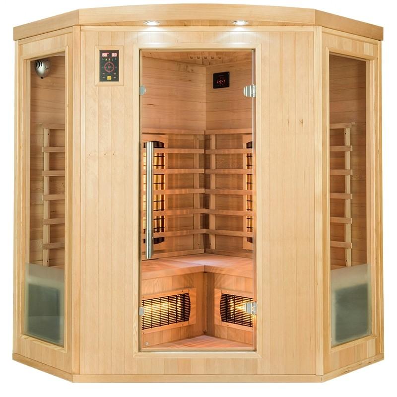 sauna infrarossi angolare 4 posti Timo lato destro