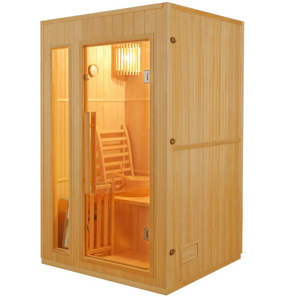 sauna finlandese 2 posti con stufa harvia mod ten 120 x 110 cm. Black Bedroom Furniture Sets. Home Design Ideas