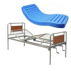 Letto ortopedico da degenza manuale 2 movimenti Liuto con materasso statico