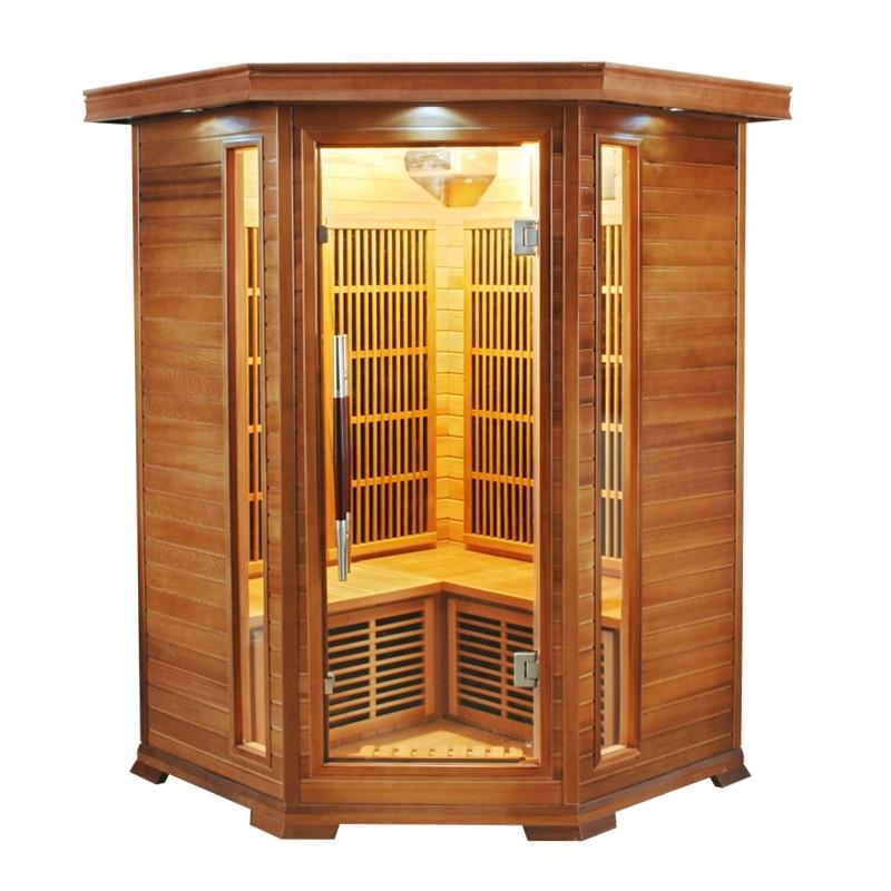 Sauna infrarossi 2 o 3 posti angolare