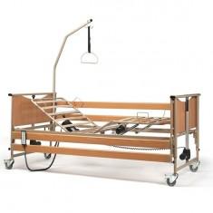 Letto ortopedico motorizzato con doghe in legno regolabile in altezza Luna Basic