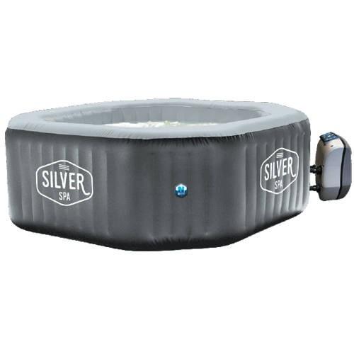 Vasca idromassaggio esterno gonfiabile esagonale Silver, vasca silver, 799 €