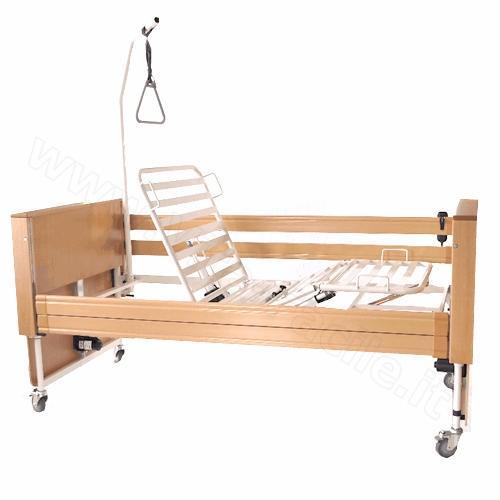 Letto elettrico per disabili e anziani in legno modello king - Letto elettrico ...