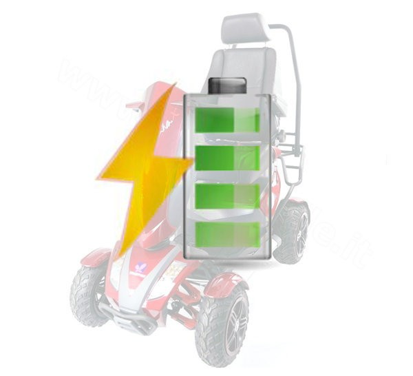 Kit Batterie di Ricambio per Scooter Kometa Virgo o Veloce 44Ah