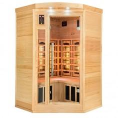 Sauna ad angolo ad infrarossi al Quarzo 2 o 3 posti Timo