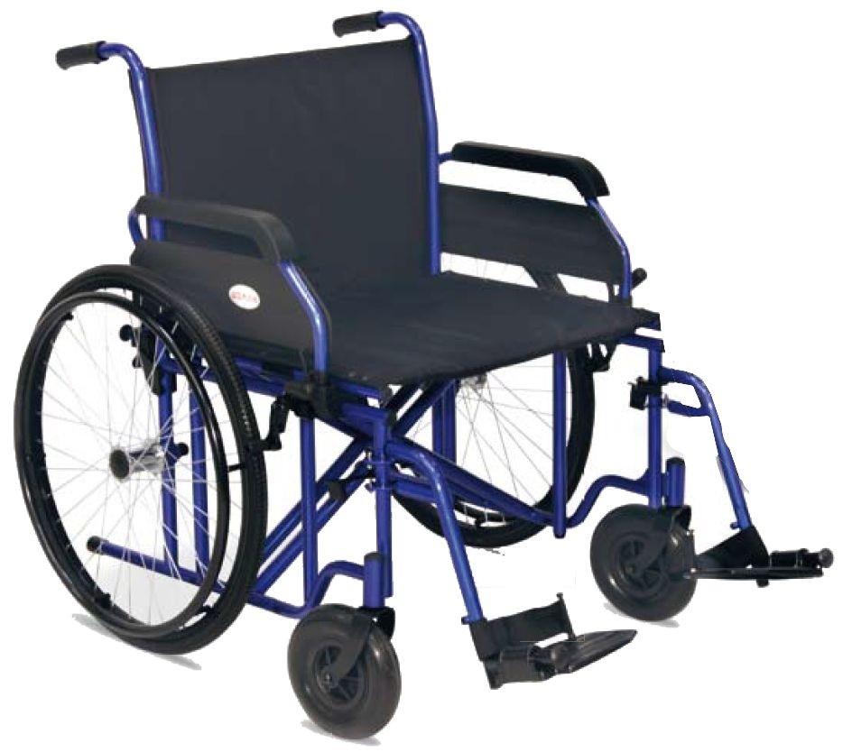 carrozzina pieghevole per disabili in acciaio