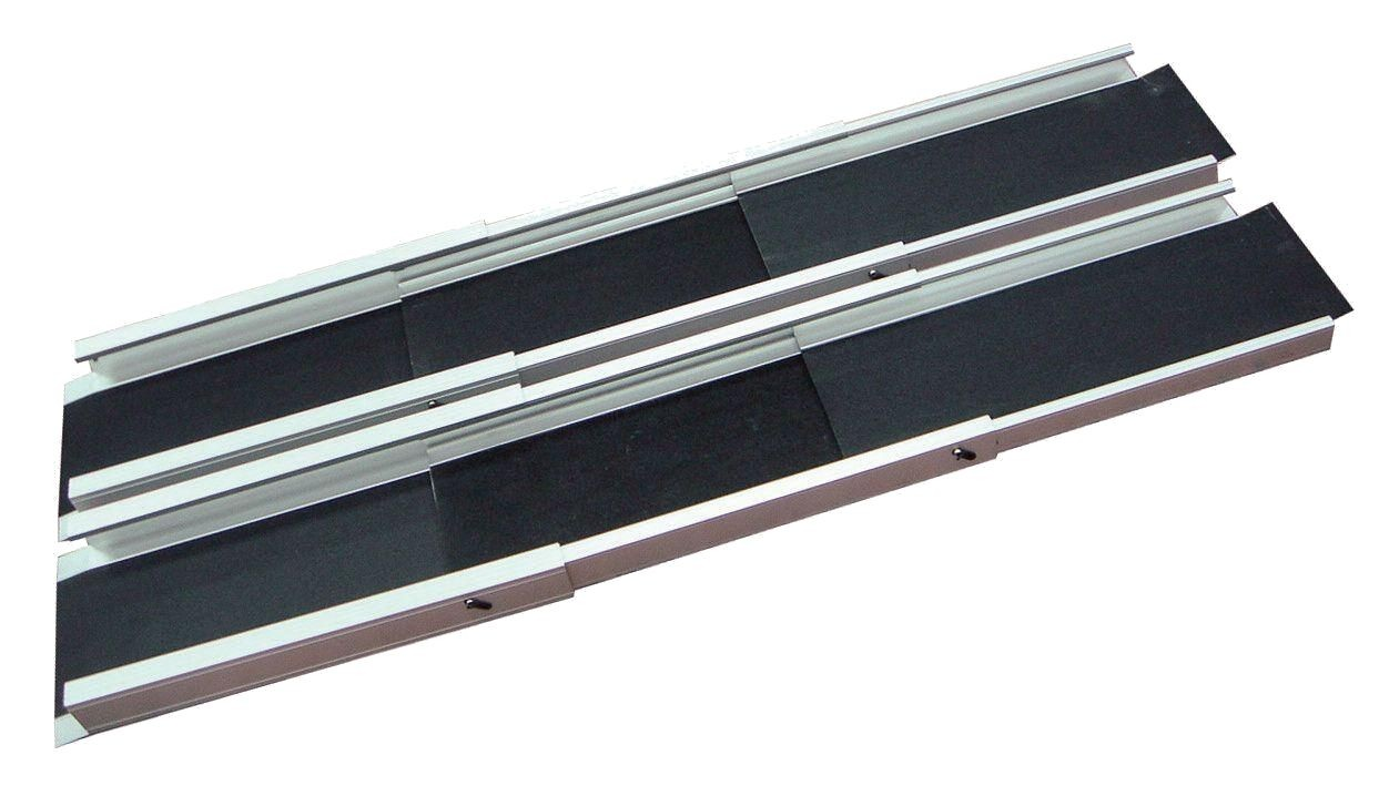 rampa telescopica portatile in alluminio per scooter elettrici per disabili e carrozzine elettriche o manuali