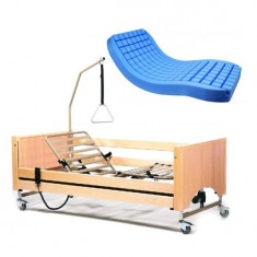 letto elettrico per anziani con 3 motori Luna e materasso anti decubito Polyplot 1