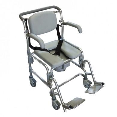 Sedia comoda per WC e doccia pieghevole con ruote, SE2, 380 €