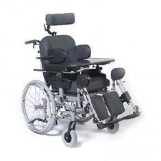 seggiolone polifunzionale per anziani con schienale reclinabile