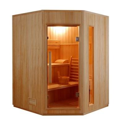 Sauna Finlandese angolare 3 posti Ten in Abete Canadese 150 x 150 CM, ZEN-3C, 2.499 €