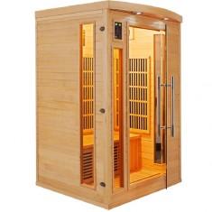 vista laterale della sauna infrarossi a 2 posti