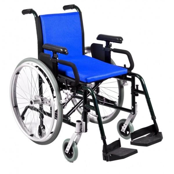 Sedia a Rotelle pieghevole da autospinta in alluminio regolabile da 41 a 46 cm PL-R, car-pl-r, 430€