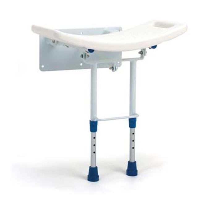 Seggiolino da doccia per disabili con placca di fissaggio al muro Grace