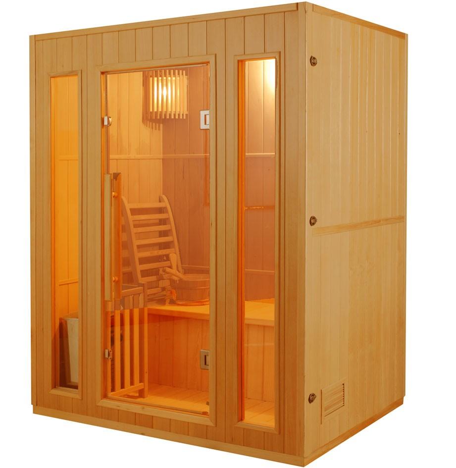 sauna 3 posti finlandese in abete canadese ten 153 x 110 cm vita. Black Bedroom Furniture Sets. Home Design Ideas
