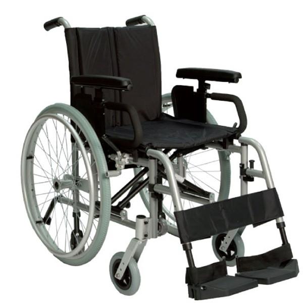 Sedia a rotelle ultra leggera doppia crociera pl vita for Larghezza sedia a rotelle