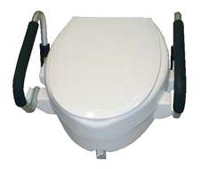 rialzo wc con braccioli ribaltabili e coperchio