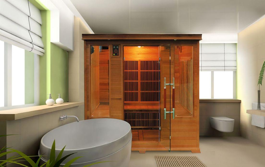 sauna infrarossi angolare 3/4 posti