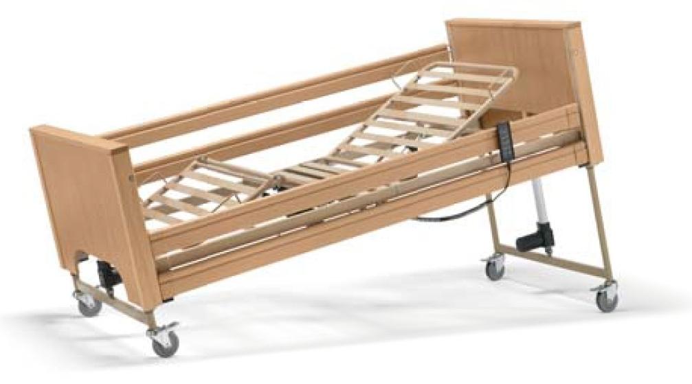 Letto disabili e anziani da degenza elettrico in legno Siesta